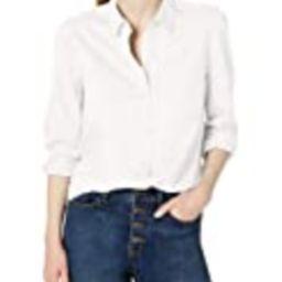 Amazon Brand - Daily Ritual Women's Knit Long-Sleeve Relaxed Button-Down Shirt, White, X-Large   Amazon (US)