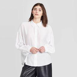 Women's Long Sleeve Button-Down Shirt - Prologue White XXL   Target