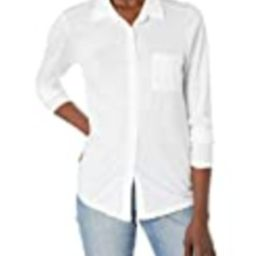Michael Stars Women's Harley Knit Button Down, White, Extra Small   Amazon (US)