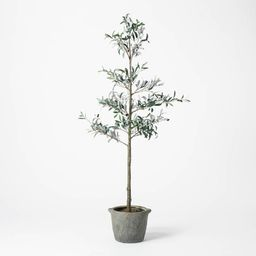 """75"""""""" Artificial Sparse Olive Tree in Pot - Threshold designed with Studio McGee 