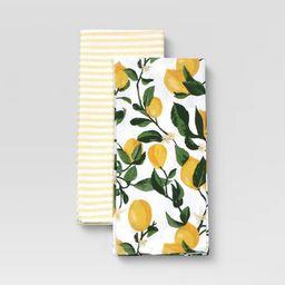 2pk Cotton Printed Kitchen Towels - Threshold™   Target