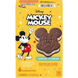 Disney Mickey Mouse Ice Cream Sandwiches - 6ct | Target