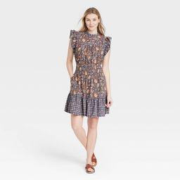 Women's Flutter Sleeveless Dress - Universal Thread™ Floral   Target
