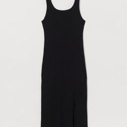 Slit-front Ribbed Dress | H&M (US)