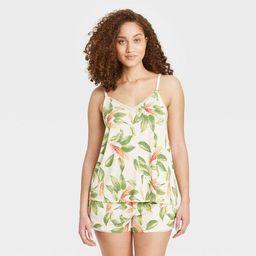 Women's Floral Print Beautifully Soft Cami and Shorts Pajama Set - Stars Above™ Cream   Target