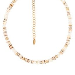 Ettika Pearl Beaded Necklace in Gold from Revolve.com | Revolve Clothing (Global)
