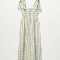 Vichy check dress | MANGO (US)