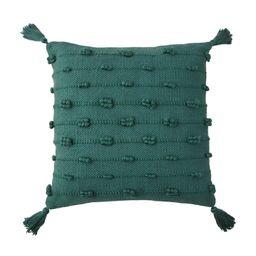 """Better Homes & Gardens 19"""" x 19"""" Bobble Stripe Outdoor Toss Pillow, Teal   Walmart (US)"""