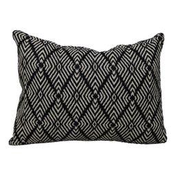 """Better Homes & Gardens 13"""" x 19"""" Outdoor Woven Toss Pillow, Black & Ivory   Walmart (US)"""