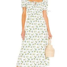 FAITHFULL THE BRAND Flora Midi Dress in Bendita Floral Print from Revolve.com | Revolve Clothing (Global)