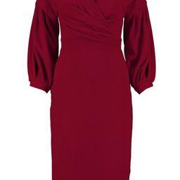 Off the Shoulder Wrap Midi Dress   Boohoo.com (US & CA)