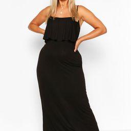 Plus Double Layer Strappy Maxi Dress   Boohoo.com (US & CA)