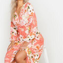 Plus Floral Midi Dress   Boohoo.com (US & CA)