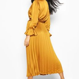 Satin Pleated Midaxi Dress   Boohoo.com (US & CA)