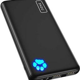 INIU Portable Charger, USB C Slimmest & Lightest Triple 3A High-Speed 10000mAh Power Bank, Flashl... | Amazon (US)