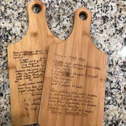 Personalized cutting board, handwriting, handwritten recipe, cutting board, recipe cutting board,...   Etsy (US)