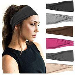PLOVZ 6 Pack Women's Yoga Running Headbands Sports Workout Hair Bands (Set 6)   Amazon (US)