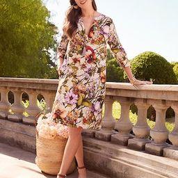 Linen Floral-Print Shift Dress | Chico's