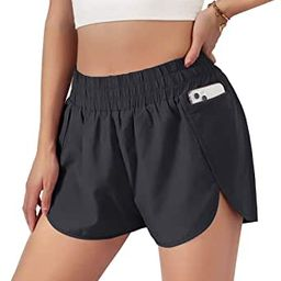 Blooming Jelly Womens Quick-Dry Running Shorts Sport Layer Elastic Waist Active Workout Shorts wi...   Amazon (US)