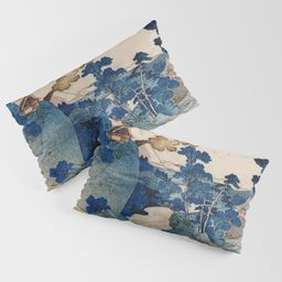 Cottages On Cliffs Traditional Japanese Landscape Pillow Sham | Society6