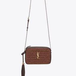 lou camera bag in raffia and leather | Saint Laurent