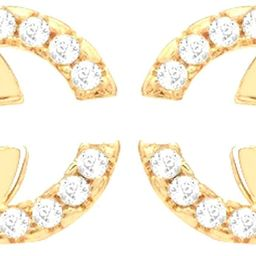 Bodytrend Double C Silver Stud Earrings/Pendant- AAA+ Crystals- Exquisite CC Style Chic Letter De... | Amazon (US)