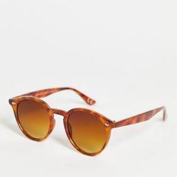 ASOS DESIGN plastic round sunglasses in honey tort   ASOS (Global)