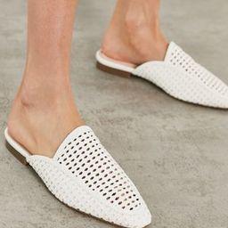 London Rebel woven mule shoes in white   ASOS (Global)