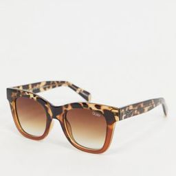 Quay Australia After Hours oversized square sunglasses in brown tort fade   ASOS (Global)