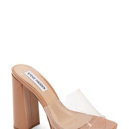 Women's Steve Madden Lavanya Clear Platform Slide Sandal, Size 8.5 M - Beige | Nordstrom