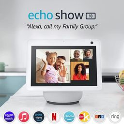 Echo Show 10 (3rd Gen) | HD smart display with motion and Alexa | Glacier White | Amazon (US)