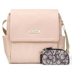 Boxy Backpack in Blush Leatherette   Petunia
