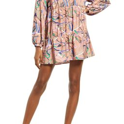 Long Sleeve Tiered Babydoll Dress   Nordstrom