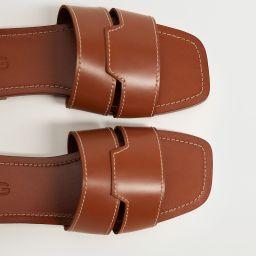 Leather straps sandals | MANGO (US)