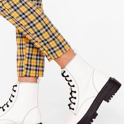 Lace Up Chunky Biker Boots | NastyGal