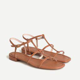 Abbie leather double T-strap sandals | J.Crew US