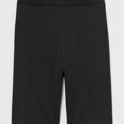 Ribbed Biker Shorts   H&M (US)