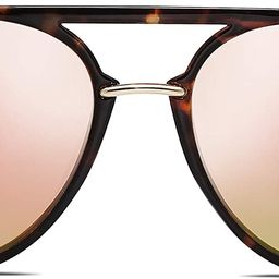 SOJOS Oversized Polarized Sunglasses for Women Men Aviator Ladies Shades Large Frame SJ2078 | Amazon (US)