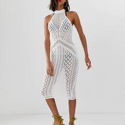ASOS DESIGN crochet midi dress-White | ASOS (Global)