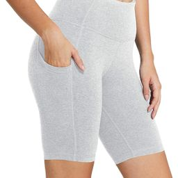 "BALEAF Women's 8"" /5"" High Waist Biker Shorts Yoga Workout Running Compression Exercise Shorts Si... | Amazon (US)"