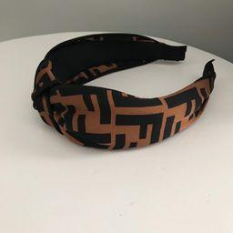 FF brown Top knot headband Designer inspired | Etsy (US)