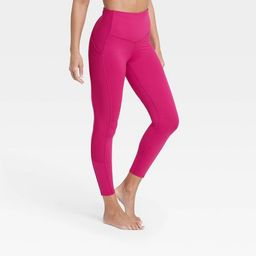 """Women's Contour Flex High-Waisted Ribbed 7/8 Leggings 24.5"""" - All in Motion™   Target"""