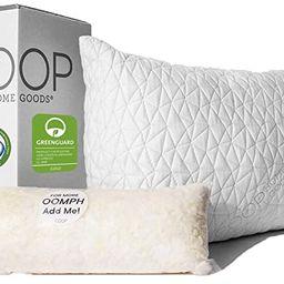 Coop Home Goods - Premium Adjustable Loft Pillow - Hypoallergenic Cross-Cut Memory Foam Fill - Lu... | Amazon (US)