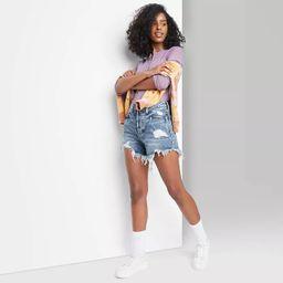 Women's High-Rise Frayed Hem Jean Shorts - Wild Fable™   Target