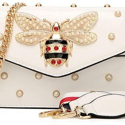 Bee Pearl Crossbody Bags for Women Chains Bee Luxury Handbags Designer Famous Brand Shoulder Bag ... | Amazon (US)