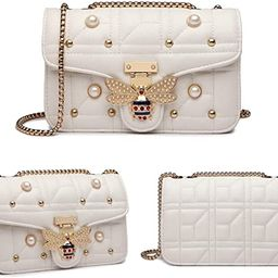 Beatfull Bee Shoulder Bag for Women, Elegant Handbag Crossbody Bag with Pearl | Amazon (US)