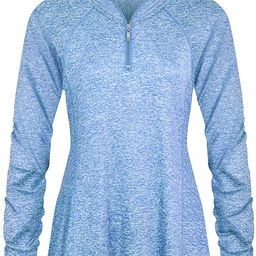 Luranee Womens Long Sleeve 1/4 Zip Pullover Athletic Hiking Running Workout Tops   Amazon (US)