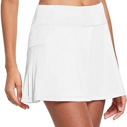 BALEAF Women's High Waisted Tennis Skirts Pleated Golf Skorts Skirts with Ball Pockets   Amazon (US)