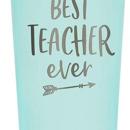 SassyCups Best Teacher Ever Tumbler   22 Ounce Engraved Mint Stainless Steel Insulated Tumbler wi...   Amazon (US)