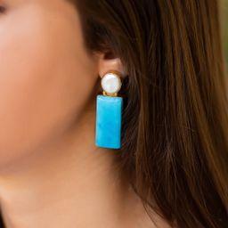 Pearl + Rectangle Turquoise  $0.00 $68.00  $68.00    DETAILS:  pearls, genuine... | Vivian Drew